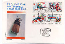 Austria 1975 First Day Cover Innsbruck Winter Olympics Games #B331-34 FDC