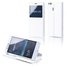 Booktasche Flip Window Weiß für Huawei Honor 6X Tasche Cover Hülle Case Etui Neu