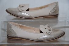 Atmosphere Ladies Beige & Gold Loafer Style Shoes Uk Size 3