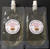 ALMOND SWEET OIL, COLD PRESSED OIL 100% PURE, FREE POSTAGE/SHIPPING IN AUSTRALIA