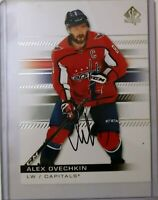 Alex Ovechkin LW/ Capitals Autograph Trading Card 100 /2019-20 SP Authentic NHL
