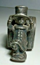Victorian Figural Napkin Ring, Silverplate, Boy in Tophat, Unmarked