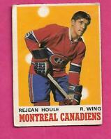 1970-71 OPC # 174 CANADIENS REJEAN HOULE ROOKIE GOOD CARD (INV# C4768)