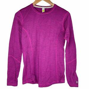 Smartwool Merino Long Sleeve Crew 150 Base Layer Top Thermal Medium Women's Pink