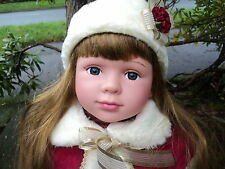 Politur Prinzessin Rot, Gross 58cm Babypuppe Mädchen Süße Lebensechte