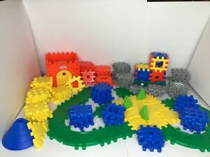 Little Tikes Wee Waffle Blocks Lot Chassis, Road, Track, Trees Vintage, 141 Pcs!