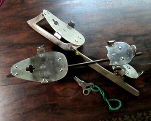 Primitive Antique Pair of Union Hardware Co. Ice Skates with Key ...Refreshing