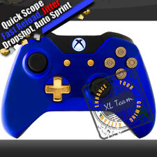 CHROME BLUE XBOX ONE MODDED RAPID FIRE CONTROLLER COD BO3 BF4 BF1 1000+ COMBOS