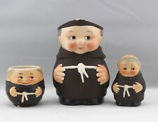 Vintage Goebel Friar Tuck Monk Set of 3 - Creamer Jug, Mug Cup & Pepper Shaker