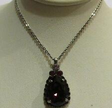 Sorrelli Pink Ruby Necklace NCM19ASPR antique silver tone