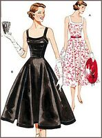 V2902 SEWING PATTERN Vintage 1950's Lined Dress Circular Skirt Fitting Bodice