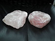 Beautiful Natural Rose Quartz Candle Holder