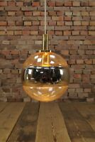 70er DECKENLAMPE LEUCHTE LAMPE Kugel Golden-Eye Deckenleuchte Vintage Space-Age