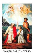 "OLD nice italy rare Holy cards ""H5200"" san narzaro e celso"