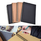 Retro Spiral Bound Coil Sketch Book Blank Notebook Kraft Sketching Paper ES
