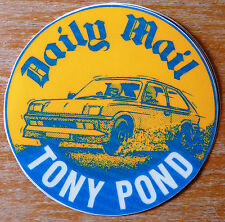 Tony Pond Vauxhall Chevette Rally Motorsport Sticker / Decal