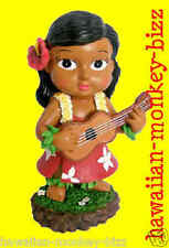 "NEW!~ ""MINI KEIKI HAWAIIAN UKULELE HULA DASHBOARD DOLL""! ~ 4 INCHES!"