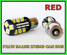 P21W 382 BA15s RED CAN BUS 27 LED STOP CAR BULBS AUDI