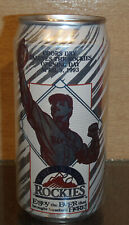 OPENING DAY ROCKIES APRIL 9 1993 COORS DRY BEER CAN GOLDEN CO MLB BASEBALL