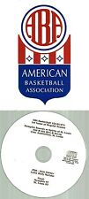 Original ABA Radio Broadcast on CD - Memphis Sounds vs St Louis Spirits (1974)