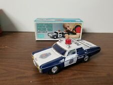 Vintage Sears Battery Operated Nonstop Action Police Car with Box Works