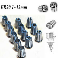 13PCS ER20 Spring Collet Set  For CNC Milling Lathe Tool Engraving Machine