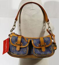 NEW NWT DOONEY & BOURKE MEDIUM BANANA HANDBAG Blue Denim, Leather 36353174