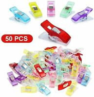 50x Colorful Plastic Sewing Clips for Craft Quilt Binding Sewing Accessories DIY