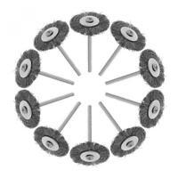 10pcs/lot Dremel Accessories 25mm Steel rotary brush dremel Wire wheel Brushes