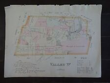 HISTORIC 1883 Map of the Township of Valley, PA  - Property Specific Detail