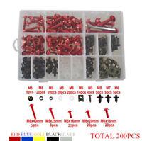 200x Fairing Bolt Kit body screws Clips For YAMAHA YZF600R YZF750R 1994-2007