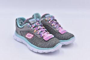 Youth Girl's Skechers Skech Appeal - Eye Catcher Lace Up Sneakers, Grey, 11