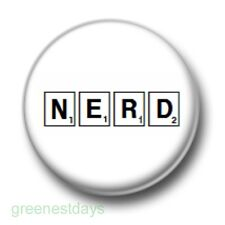 Nerd Scrabble Tiles 1 Inch / 25mm Pin Button Badge Geeks Nerds Word Games Kitsch