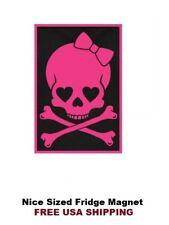 248 - Hello Kitty Skull Refrigerator Fridge Magnet