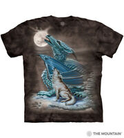 Dragon Wolf The Mountain 100% Cotton Adult T-Shirt Tee Sizes L-XL-2XL-3XL NWT