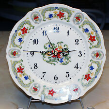 Vintage Limoges Haviland Plate Wall Clock Unidentified Pattern New Movement