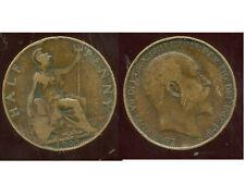 ROYAUME UNI  half penny 1909
