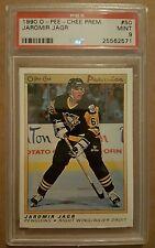 1990 OPC Premier Hockey #50 Jaromir Jagr Rookie card PSA 9 Mint! Penguins!