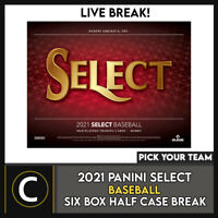 2021 PANINI SELECT BASEBALL 6 BOX (HALF CASE) BREAK #A1098 - PICK YOUR TEAM