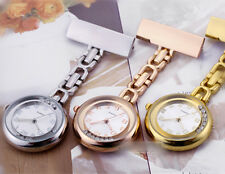 Stainless Steel Nurse Watch Tunic Fob Nursing Pendant Clip Pocket Quartz Watch K