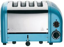 DUALIT 4-Slice Toaster with Defrost Setting and Variable Controls, Azure Blue