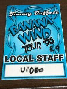 Jimmy Buffett - Banana Wind Tour '96 - satin backstage pass Video personnel