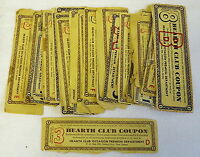 1950s HEARTH CLUB COUPON collection