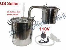 18L Alcohol Distiller 304 Stainless Steel Home Brew Wine Essential Oils Maker