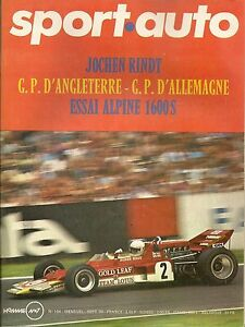 SPORT AUTO 104 1970 GP ANGLETERRE GP ALLEMAGNE CG 1800 ESSAI ALPINE A110 1600 S