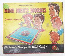 Vintage Transogram Nine Men's Morris 1955 Board Game Complete in Box 1950s 9