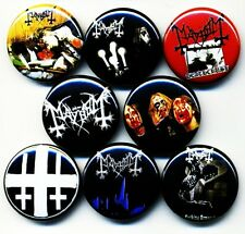 Mayhem x 8 NEW 1 inch pins buttons badges black metal