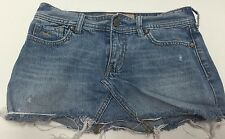 Hollister Distressed Denim Mini Short Skirt Women's Junior's Size 3