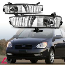 07-11 For Hyundai Accent Clear Lens Pair Fog Light Lamp+Wiring+Switch Kit DOT