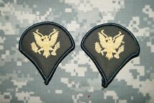 US Army FEMALE Specialist SPC E-4 Dress Green Military Patch Rank Sew small NEW